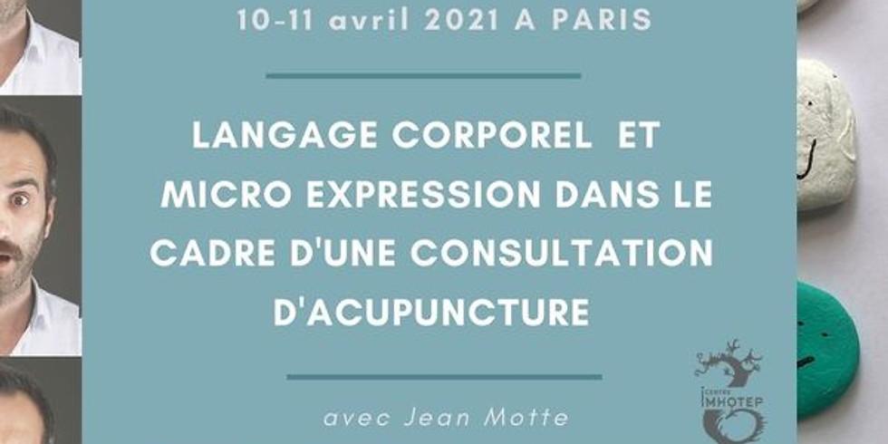 2 Jours de formation avec Jean Motte : Module de synergologie
