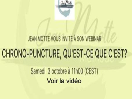 La Chrono-puncture (Vidéo de la conférence en ligne du 03/10/2020)