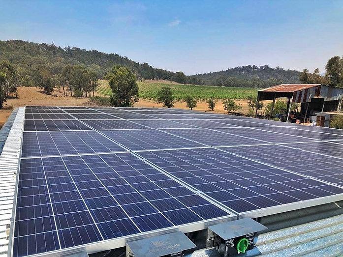 """Solar Panels & Grapes"""