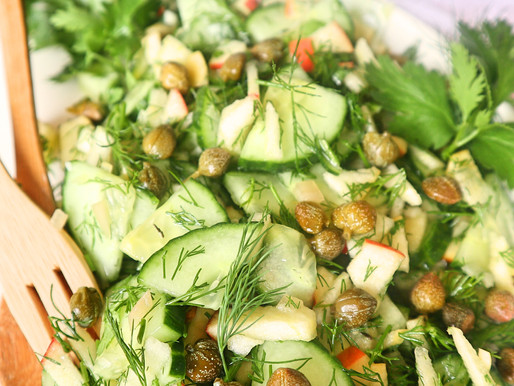 RECEPT: komkommersalade met appel en dille (fris bijgerecht)