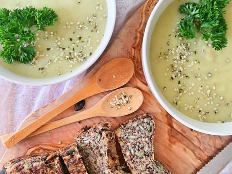 RECEPT: aardappel-preisoep (5 ingrediënten, mealprep!)