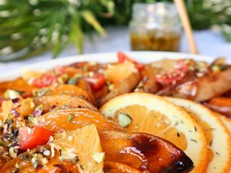 RECEPT: butternutsalade met sinaasappel (bijgerecht of maaltijdsalade)