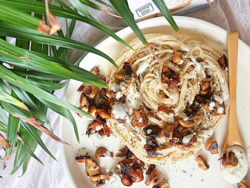 RECEPT: spaghetti in champignon-roomsaus (glutenvrij herfstrecept)