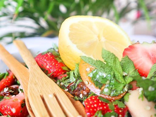 RECEPT: zomerse bonensalade met aardbei (snelle meal prep & side dish)
