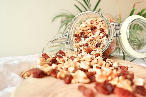 Herfstgranola met appel, walnoot en rozijnen (300 gram) - gluten- en suikervrij
