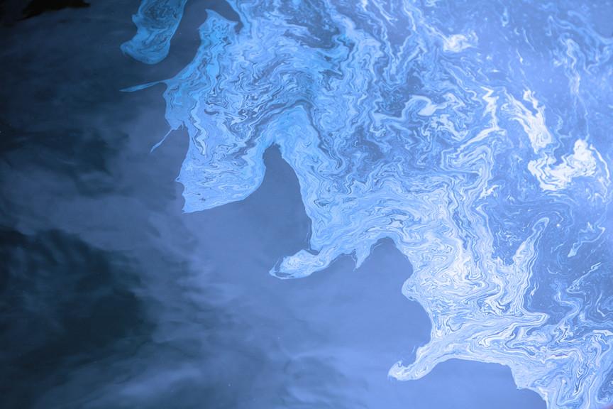 Coastline Oil on Water