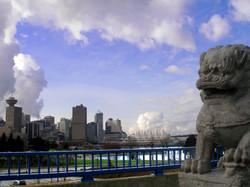 Lion on the Bridge