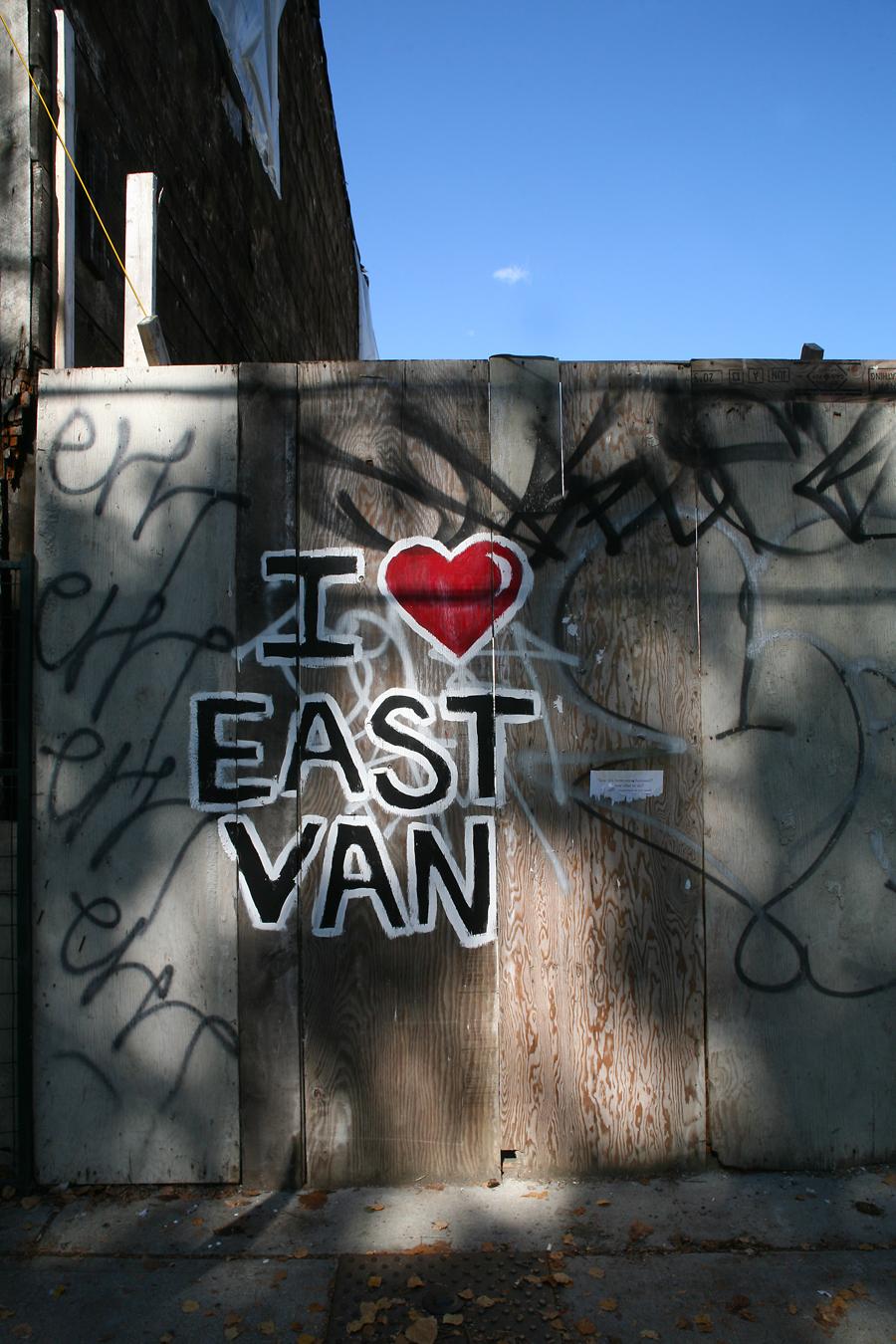 I Love East Van - Hoarding