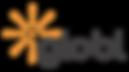 globl 4 Logo + Orange Icon + Black Text