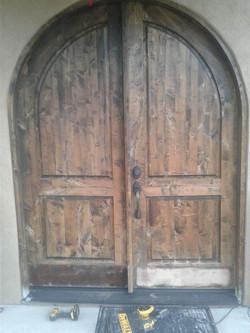 Repair and refinish entrance door
