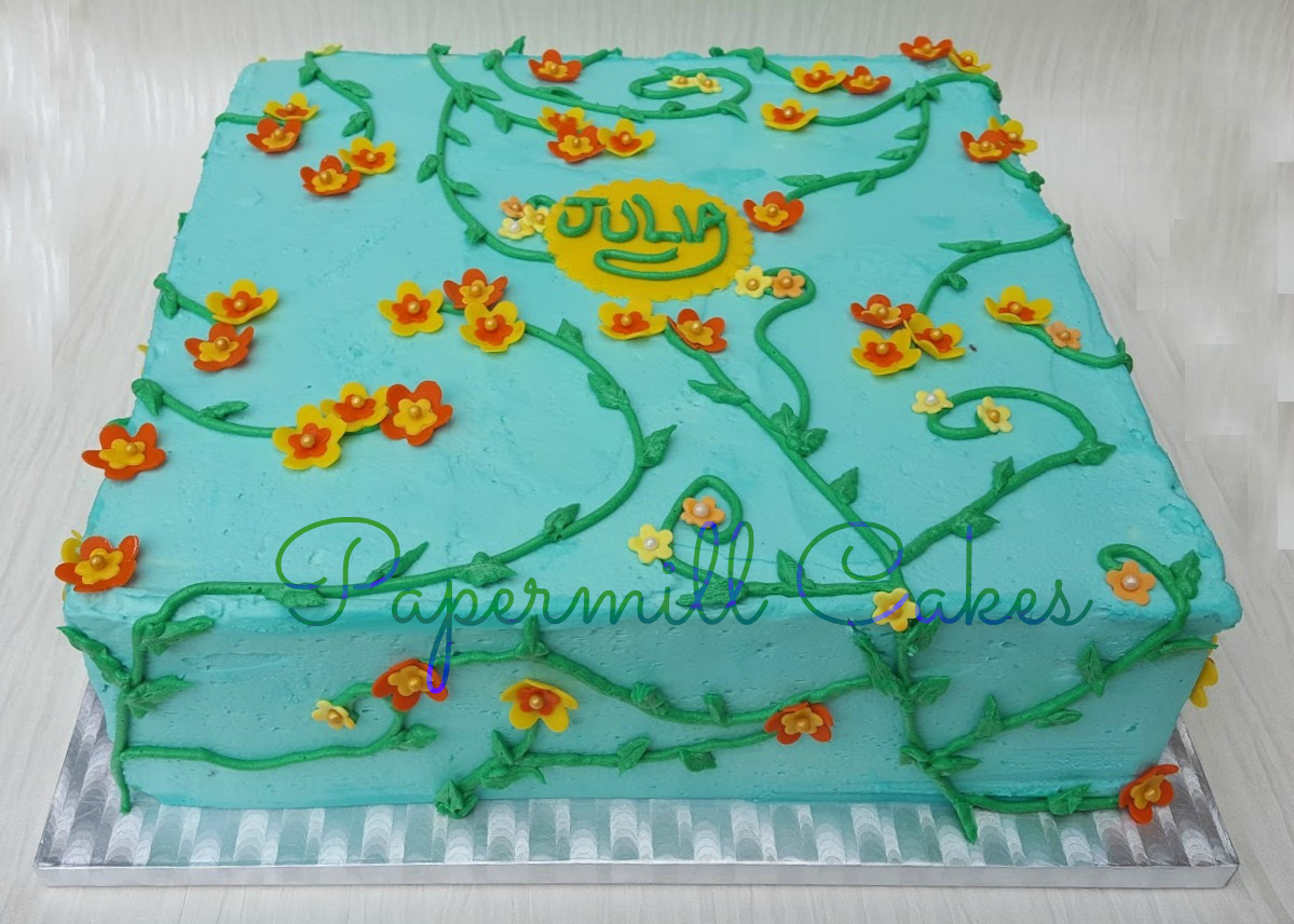 Flowers on Buttercream
