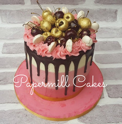 Ombre Cherry and Chocolate