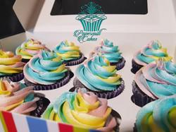 Tricolour Shiny Cupcakes