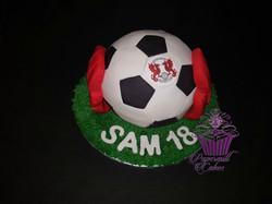 Sphere Football Cake