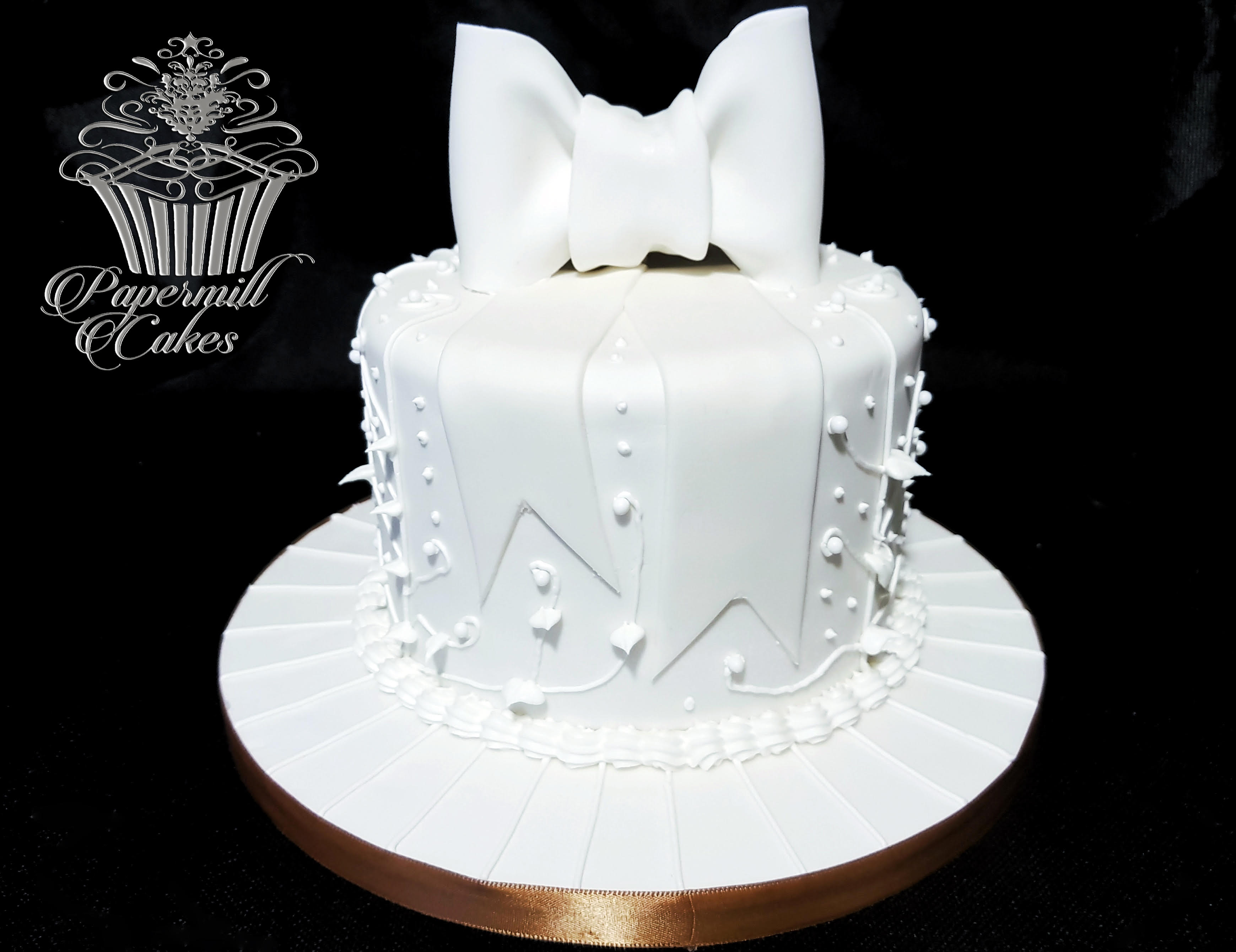 Celebration cake with royal icing