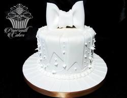 Celebration cake with royal icing