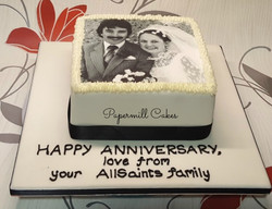 Anniversary with Edible Print