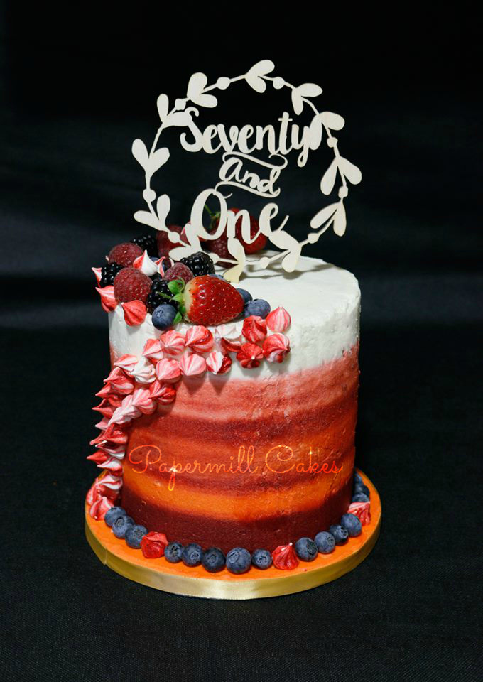 Ombre Fruit Cake