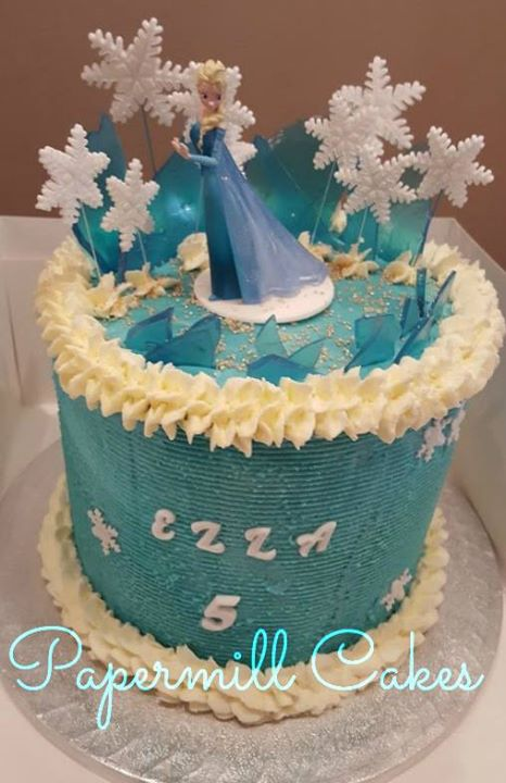 Elsa-Frozen Buttercream Cake