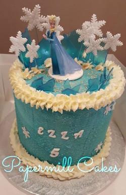 Elsa-Frozen Buttercream Cake