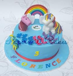 Rainbow, Unicorn and Peppa Pig