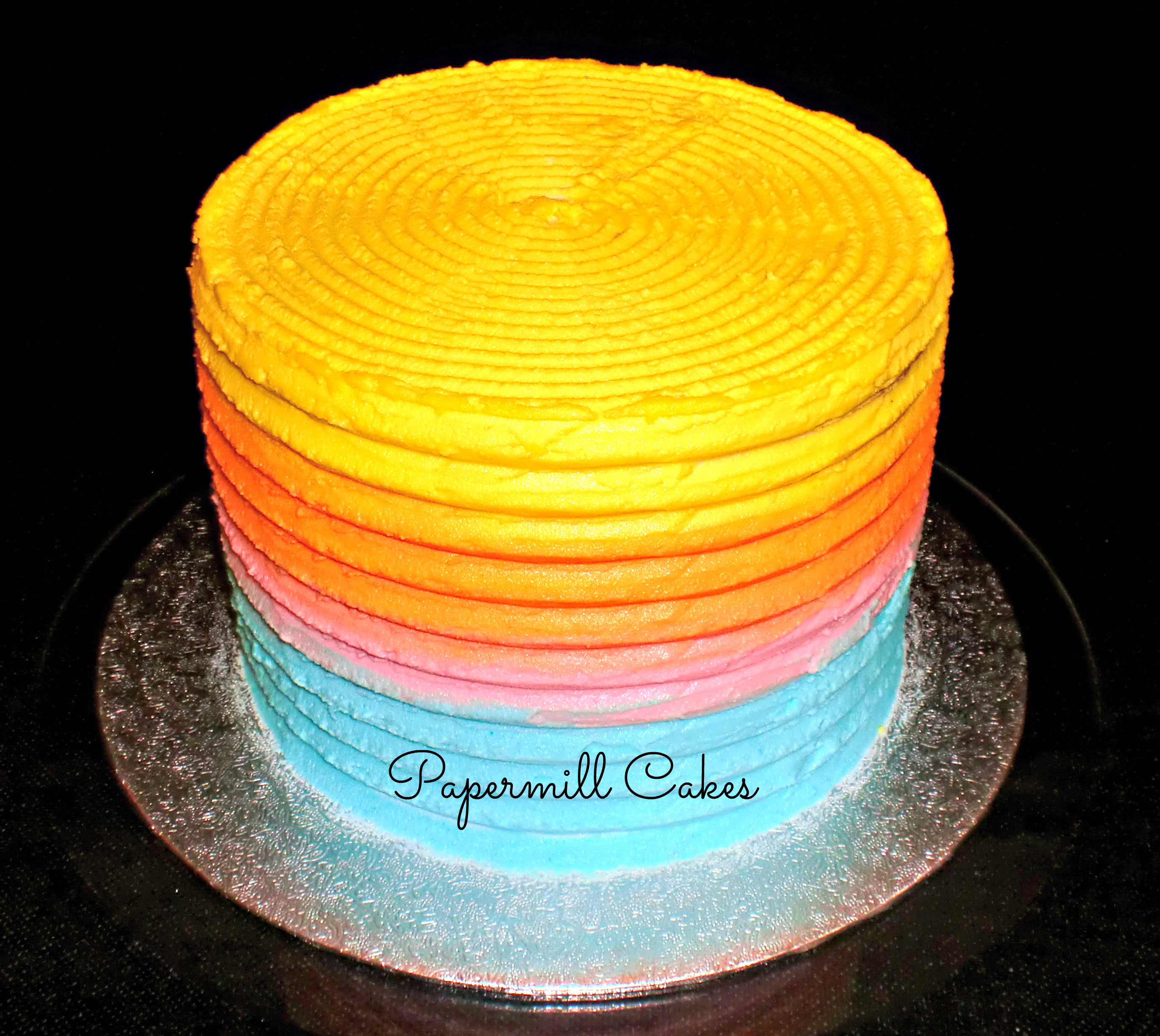 Pastel 6 inch ombre cake