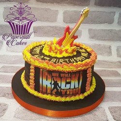 We Will Rock You cake