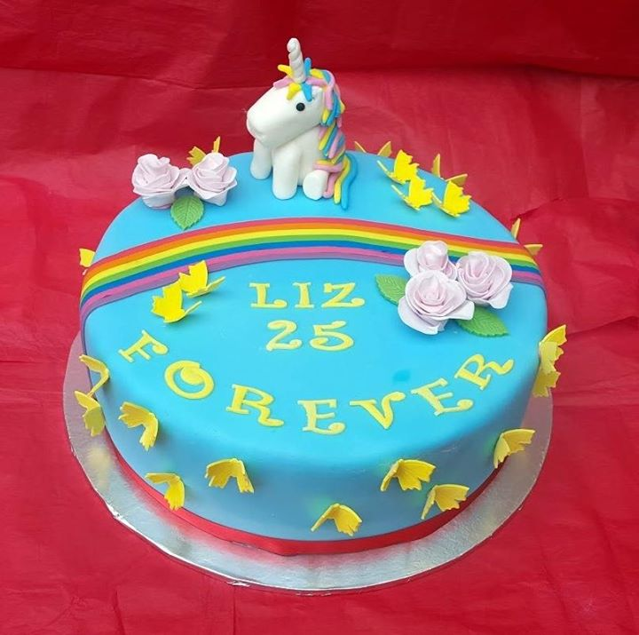 Rainbow and Unicorn Cake