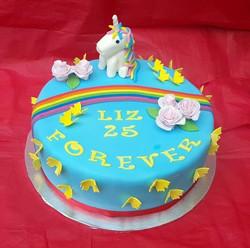 Rainbow and Unicorn Cake