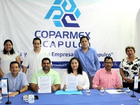 Universidad Hartmann  Acapulco y Coparmex Acapulco firman Convenio para prácticas y servicio social.
