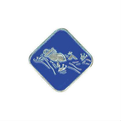Grodan rygg blå