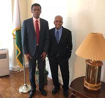 Eric and Raj at Madagascar Embassy - Occ