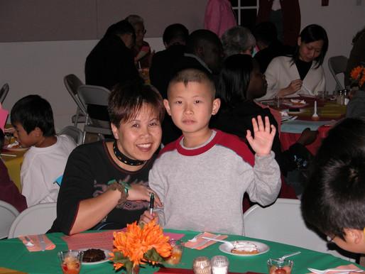 Thanksgiving Dinner 2001