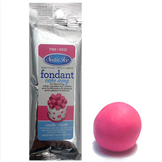 Fondant Rose Satin Ice 125g