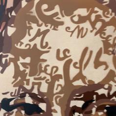 Détails œuvre Mona, hommage à Léonard