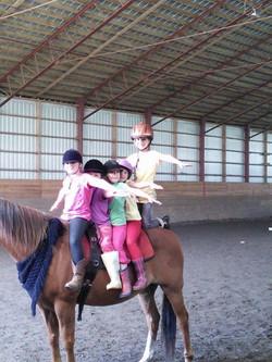 Cours de voltige à cheval