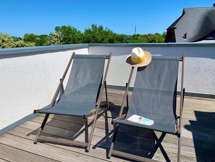 Entspannung pur auf der Dachterrasse