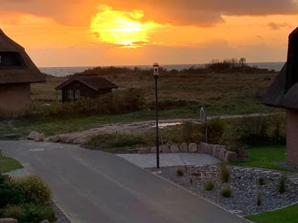 Sonnenuntergang mit Blick von der Dachterrasse
