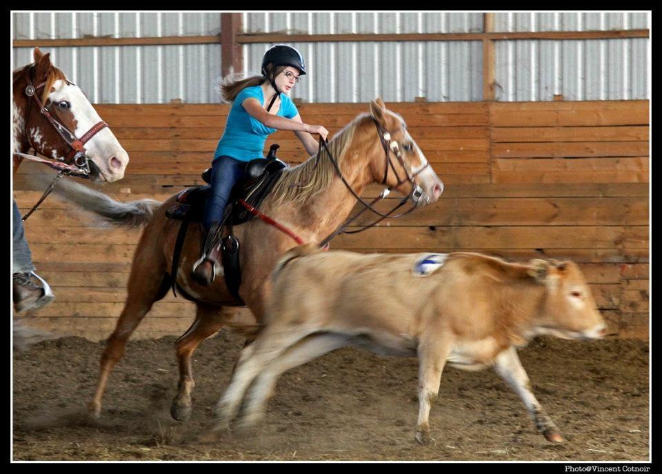 Penning on horseback