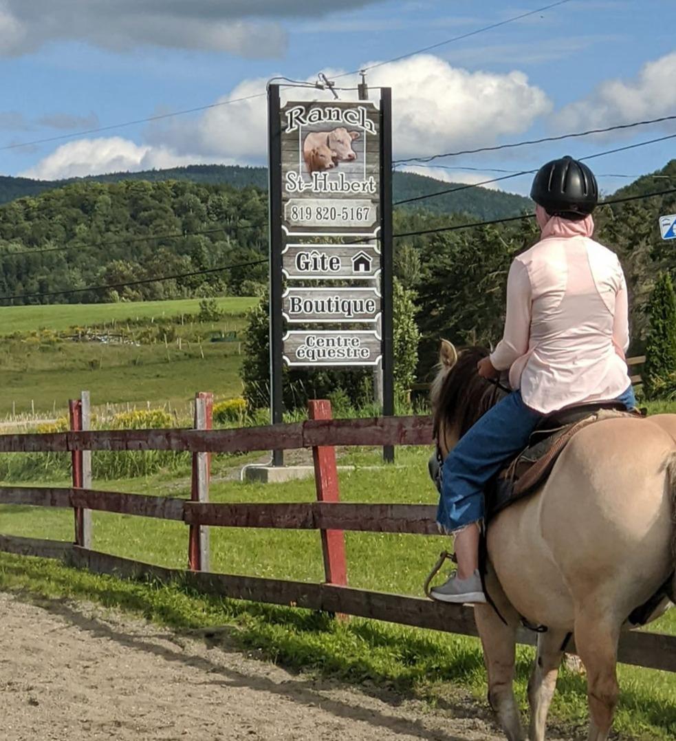 cours d'équitation extérieur
