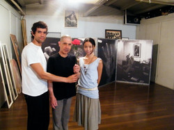 Rodrigo Rodrigues Actor and Yoshito ohno at kazuo ohno's Studios. Butoh studies