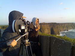 Rodrigo _Rodrigues filming at cliff of moher in Galway