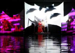 Rodrigo Rodrigues plays Sinbad in the Musical water Show Sinbad