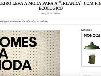 """Rodrigo Rodrigues leva a moda para a """"Irlanda"""" com figurino ecológico"""