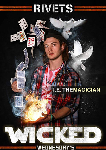 ie,reign,magic,magician,cards,doves,fire,entertainer,rivets,modesto,california,business promotion,flyer