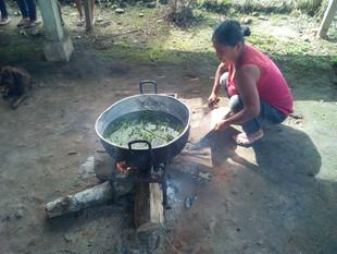 Cucinando sulla fiamma