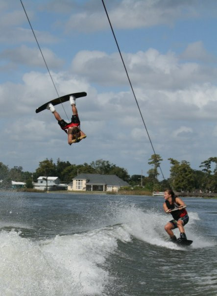 Wakeboarding's signature Air Raley photo by Cat Lemus