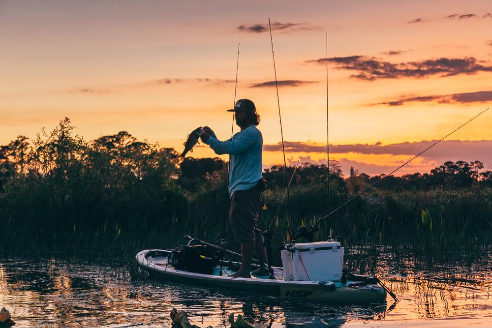 SUP Fishing captured by Greg Panas