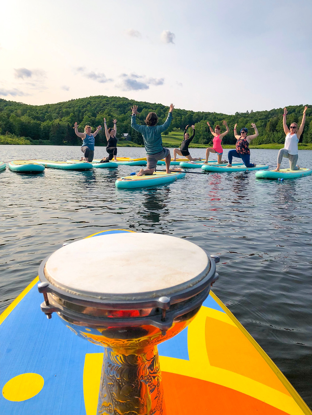 Photo of yoga on the water captured by Druminyasa