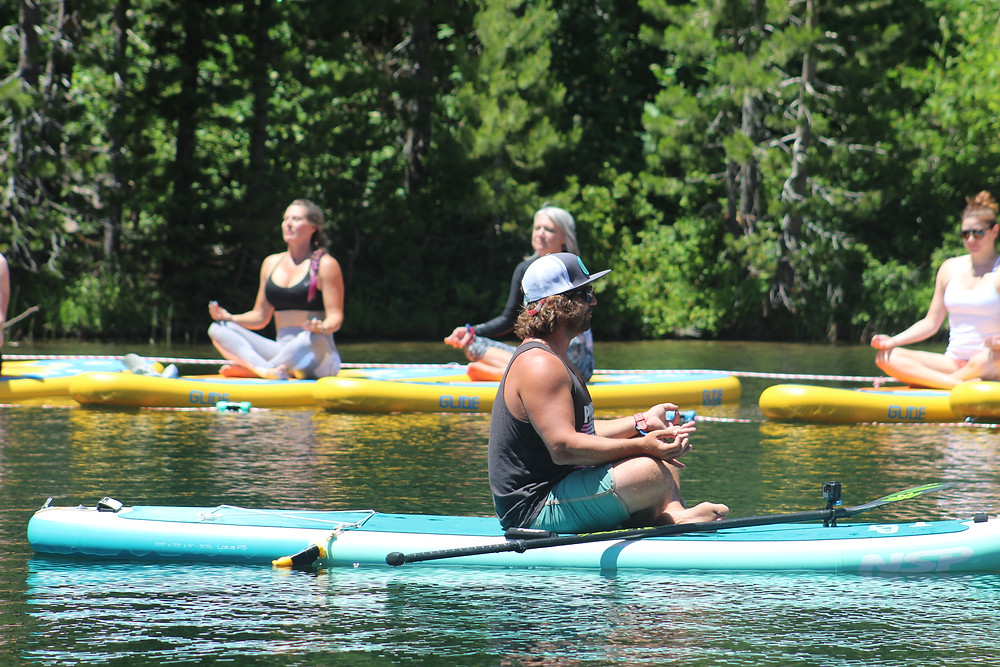 SUP yoga at Wanderlust Festival in Squaw Valley photo by Allyson Lynch